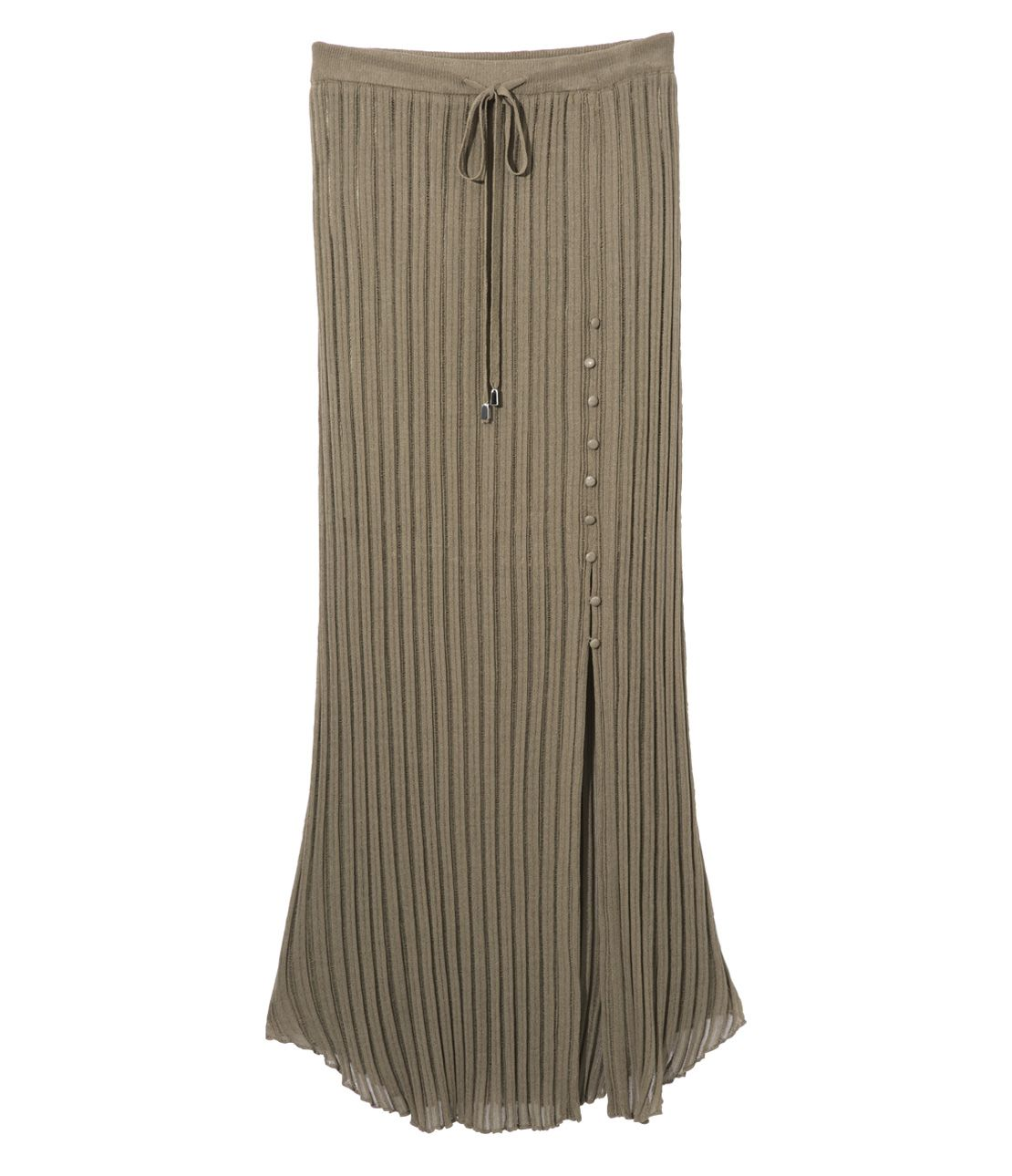 Side slit summer maxi skirt