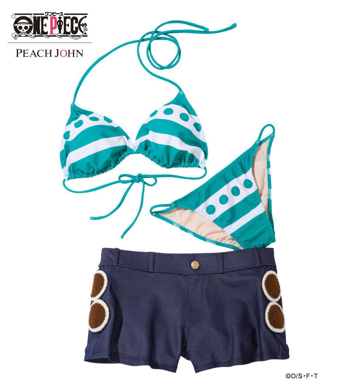 ONE PIECE×PJ ONE PIECE NAMI Swimwear Set / ナミのスイムウエアセット