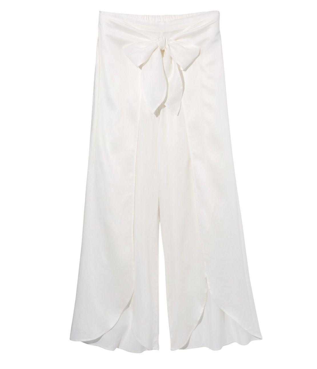 Linen flare wide pants