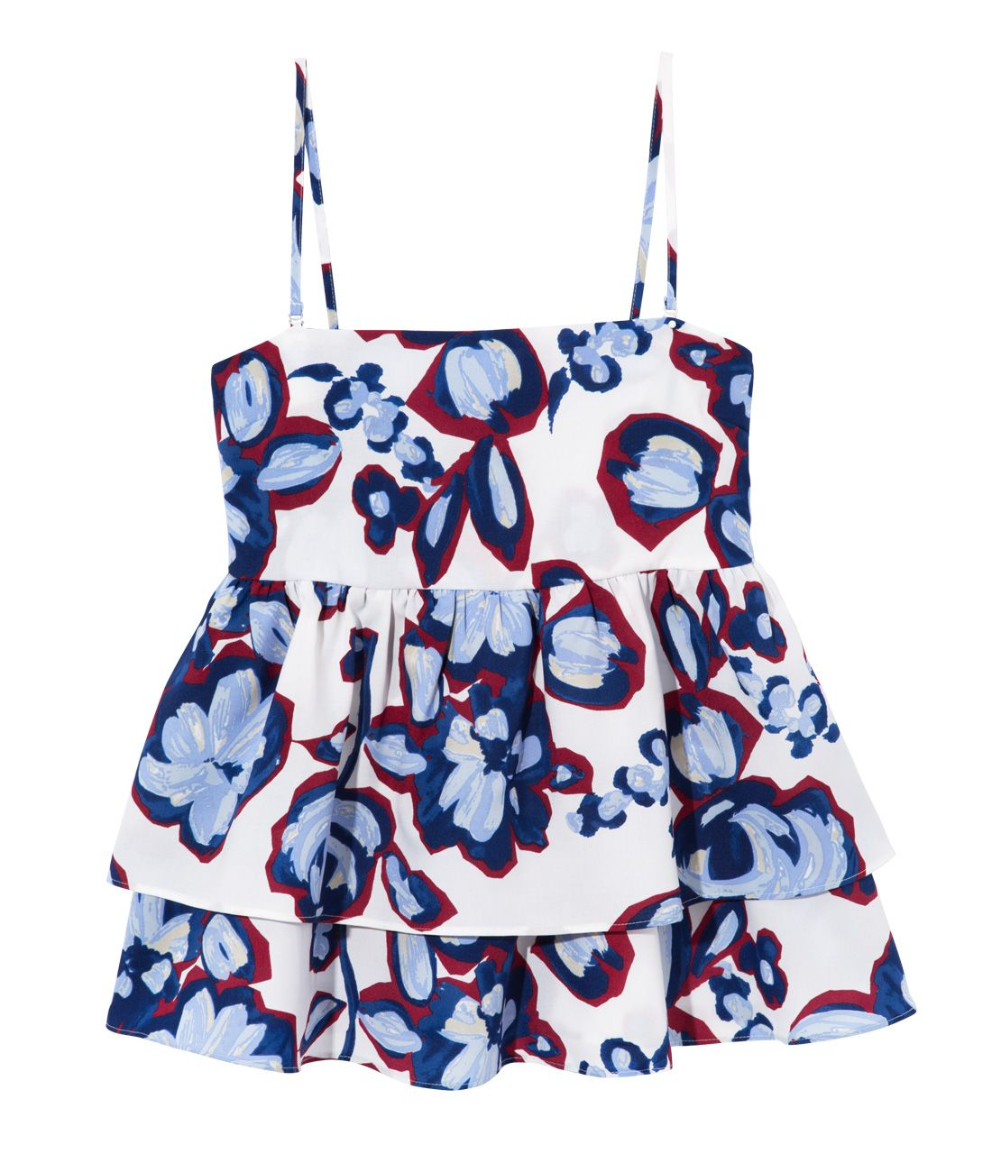 Printed Ruched Cami