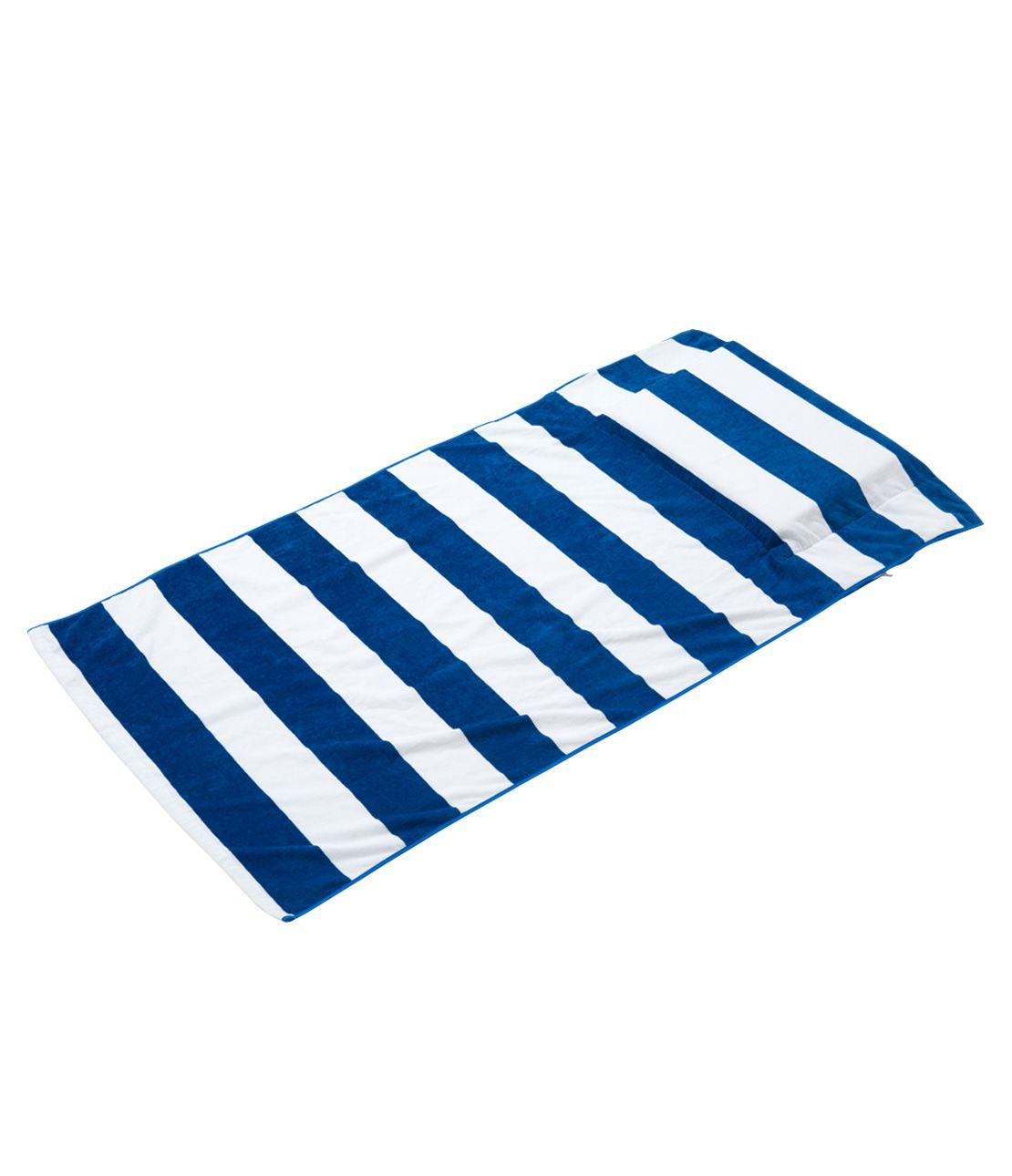枕付きビーチタオル