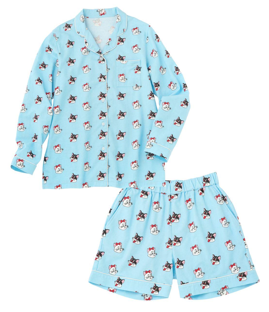 YM flannel print pajamas