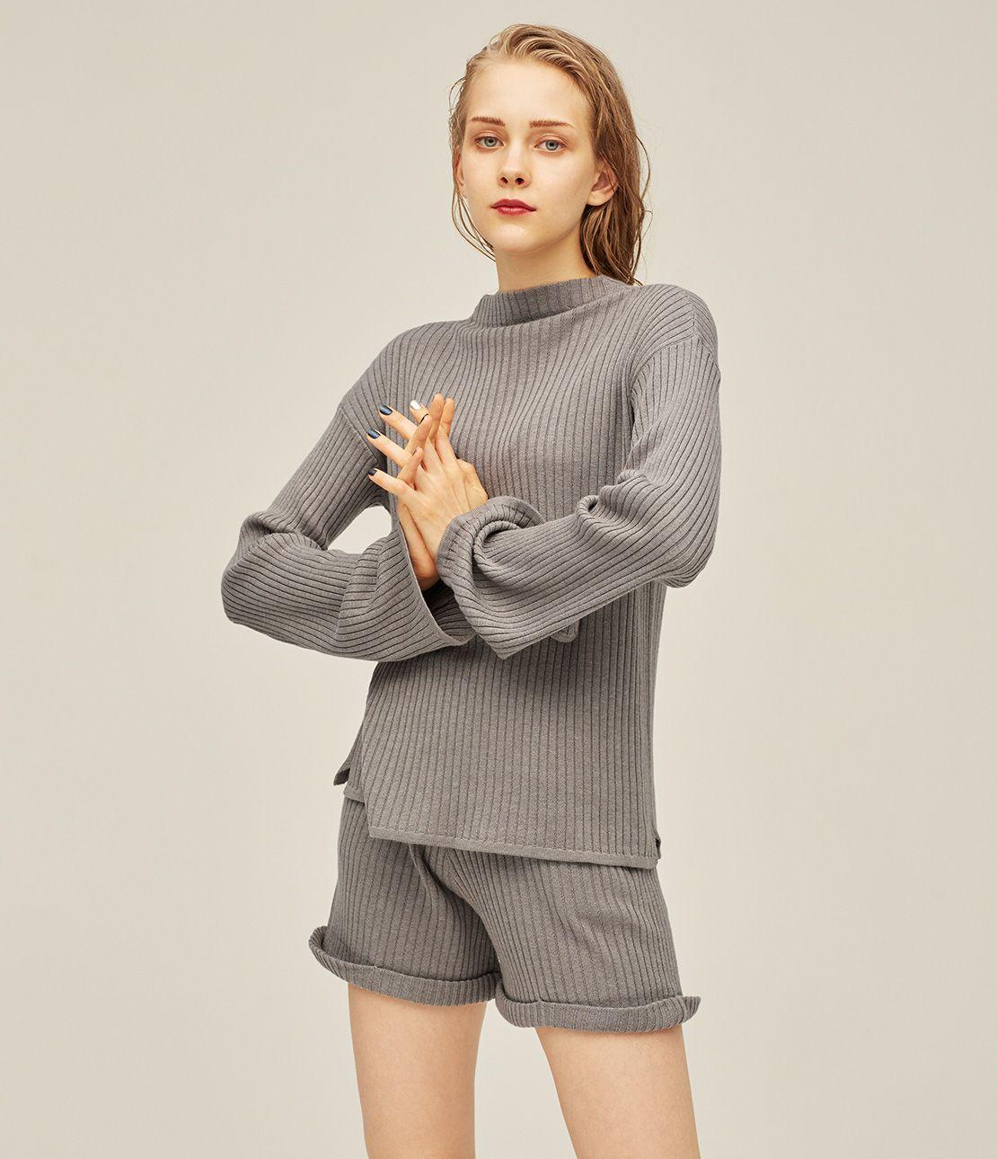 Flare sleeve knit setup