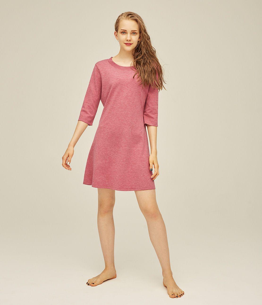 Back ribbon knit mini dress