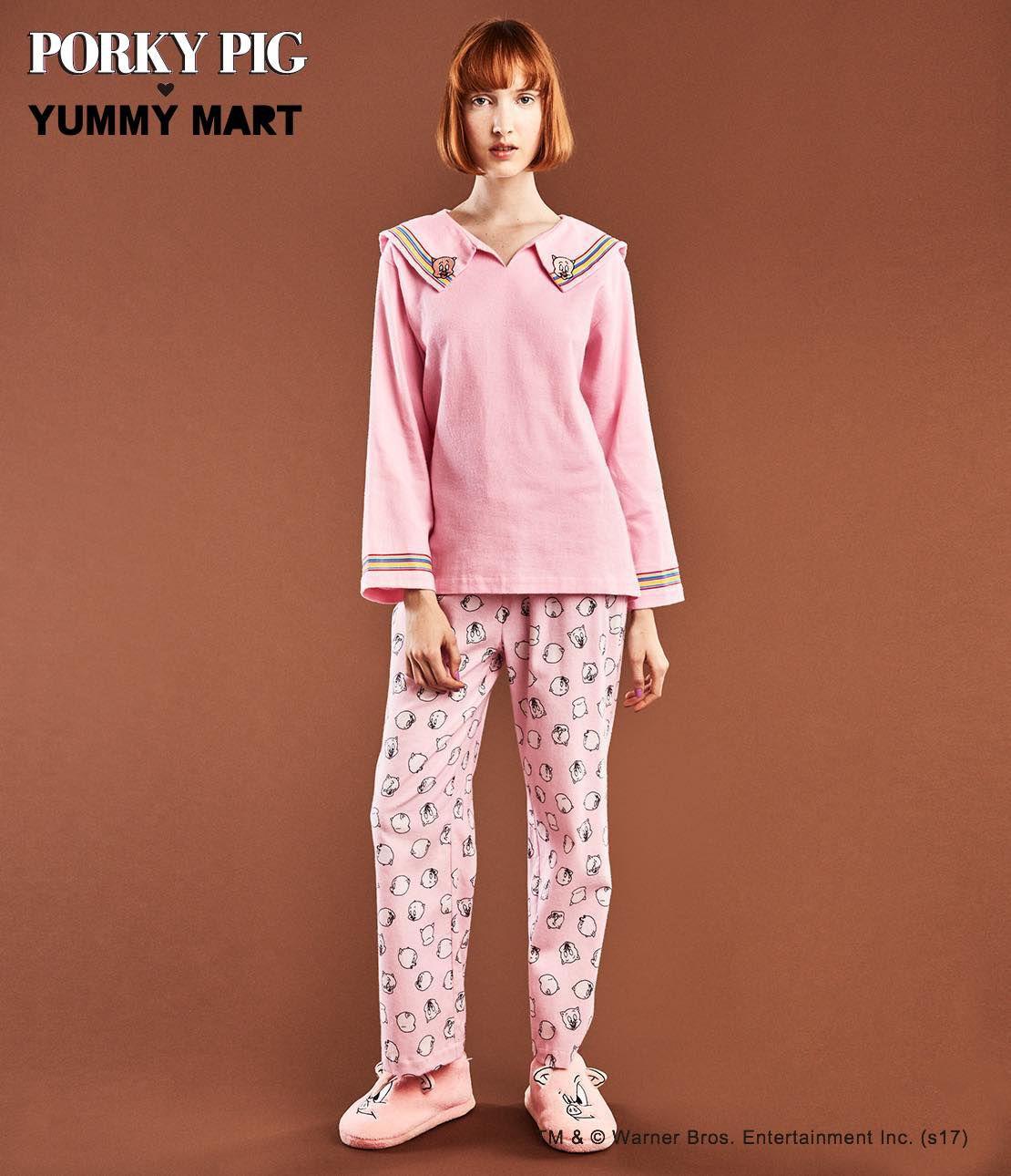 YM豬肉的豬法蘭絨睡衣