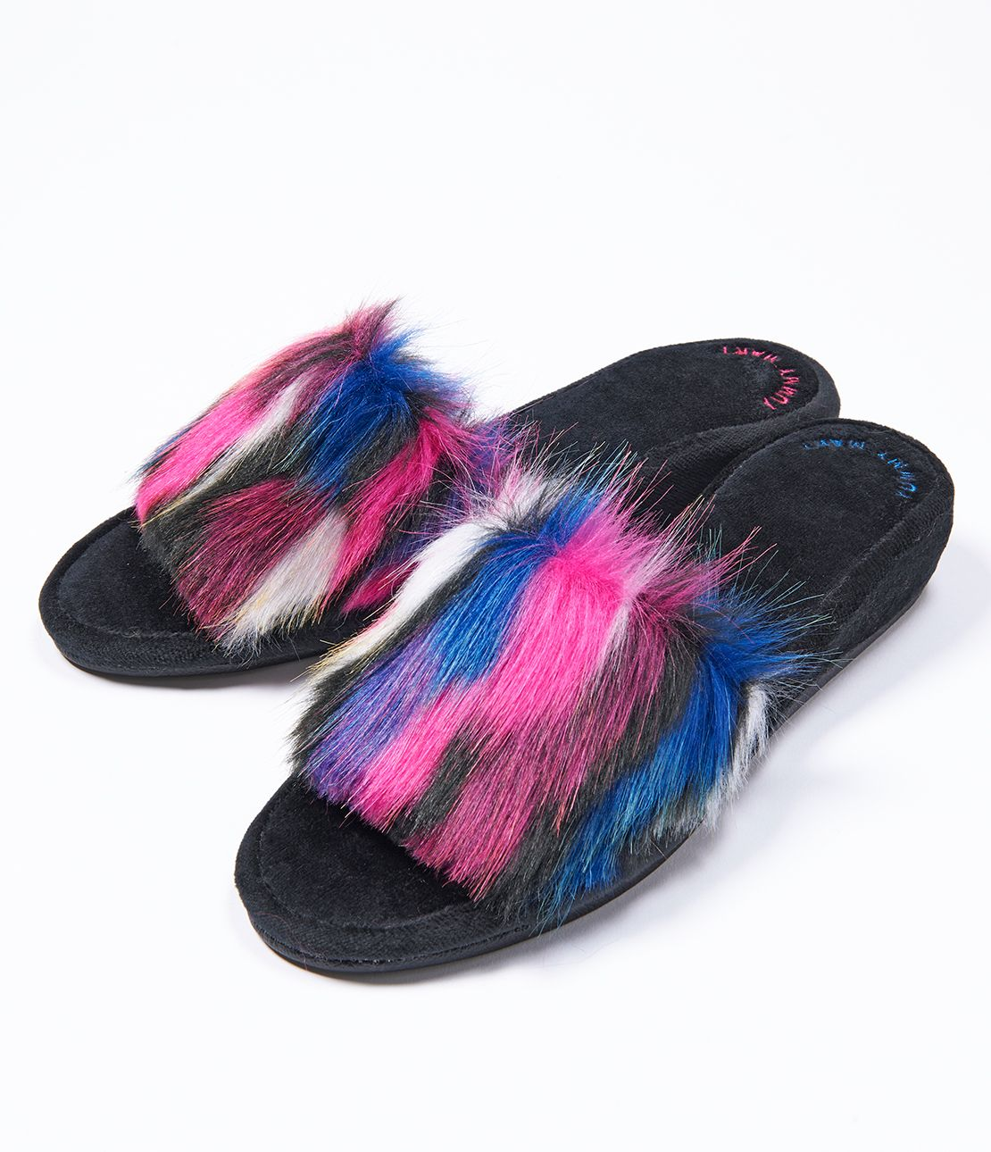 YM fake fur slippers
