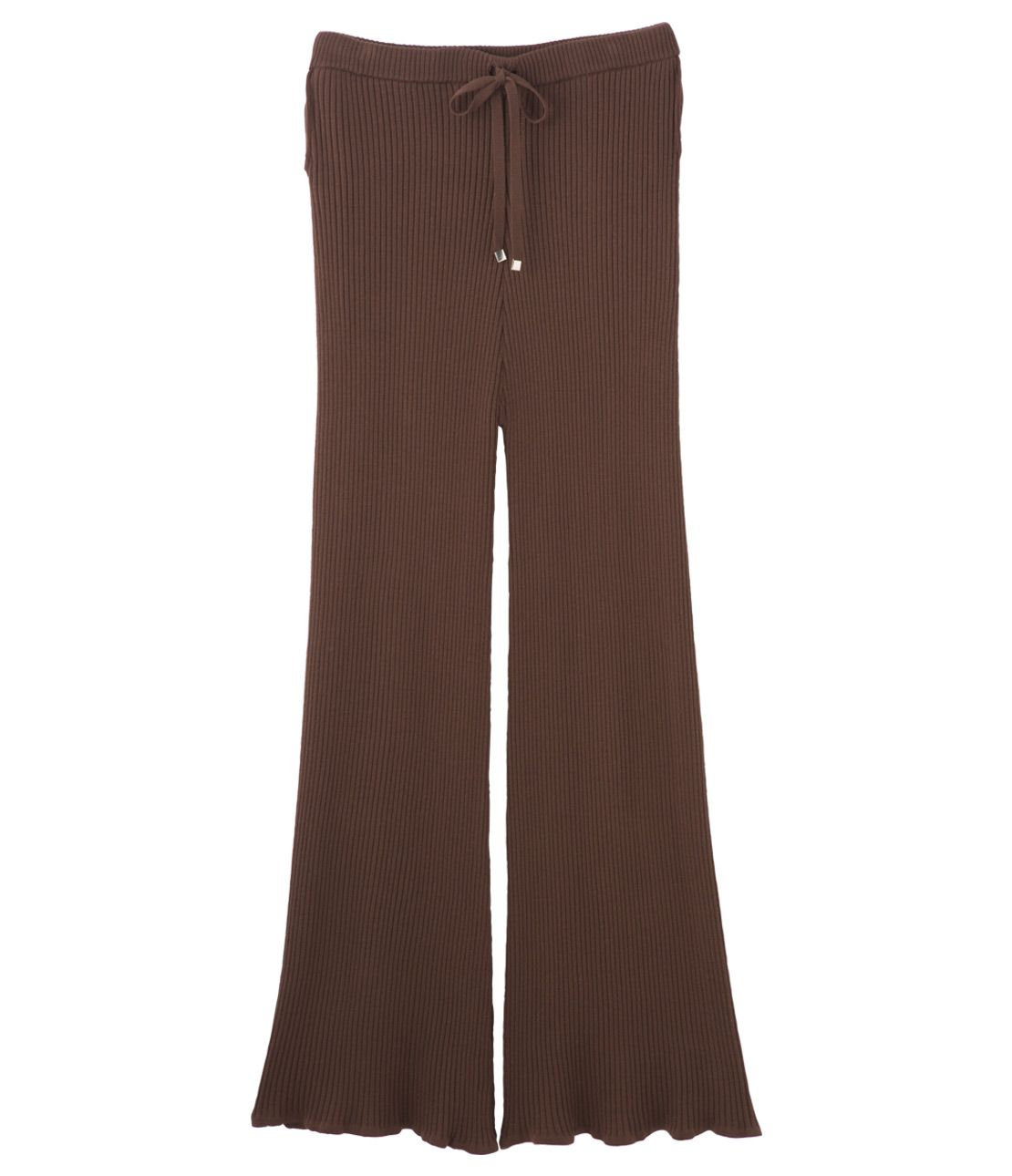 Rib knit wide pants