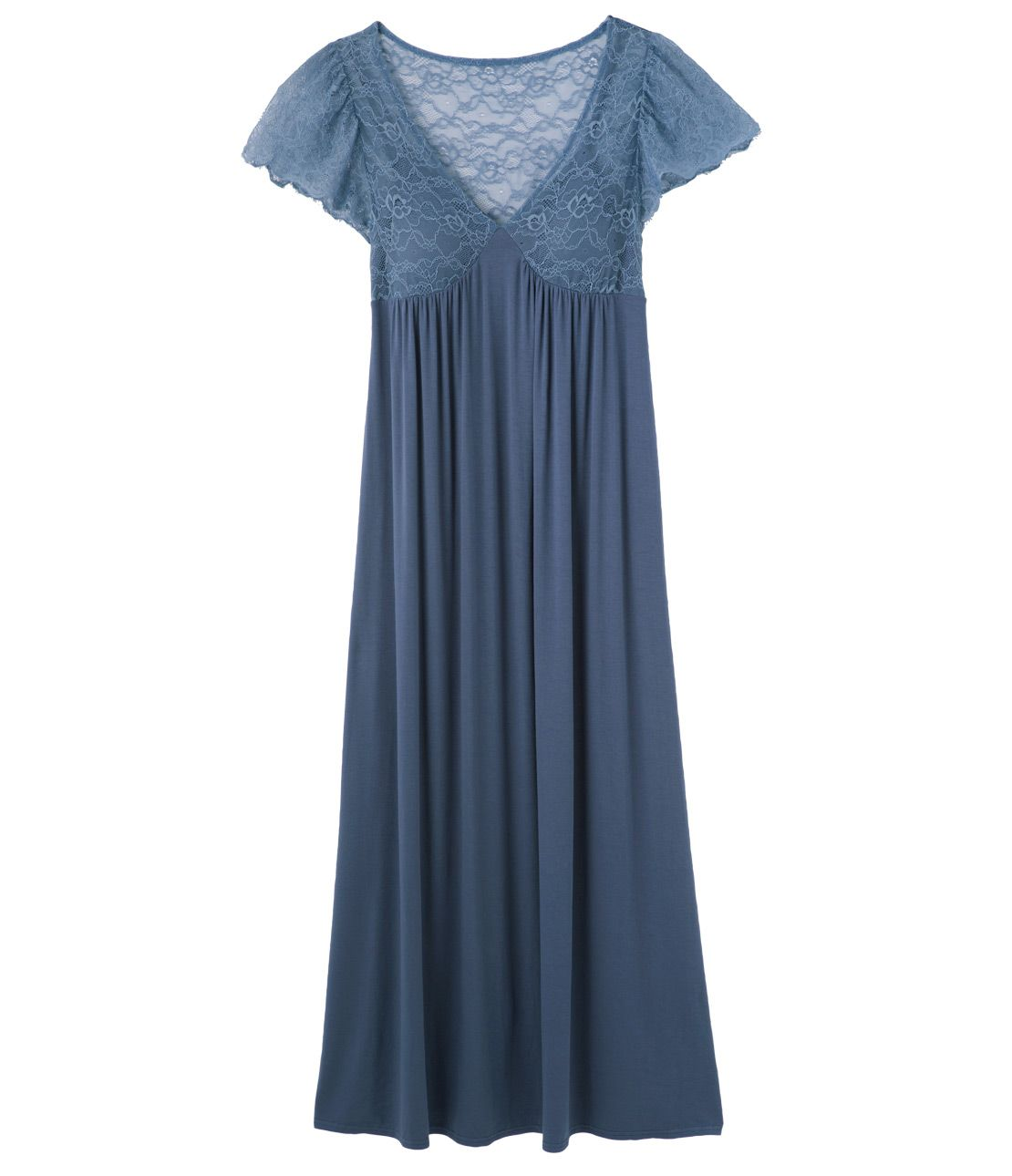 Soft rayon path debt maxi dress