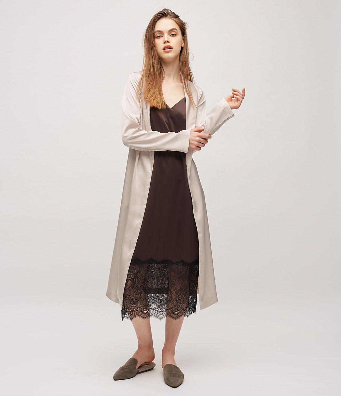Vintage satin coat