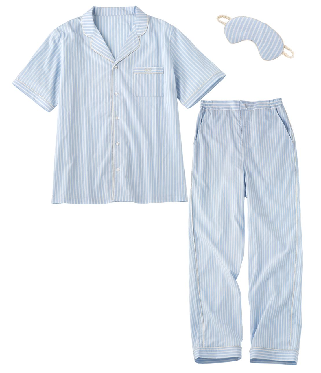 男式棉襯衫睡衣套裝