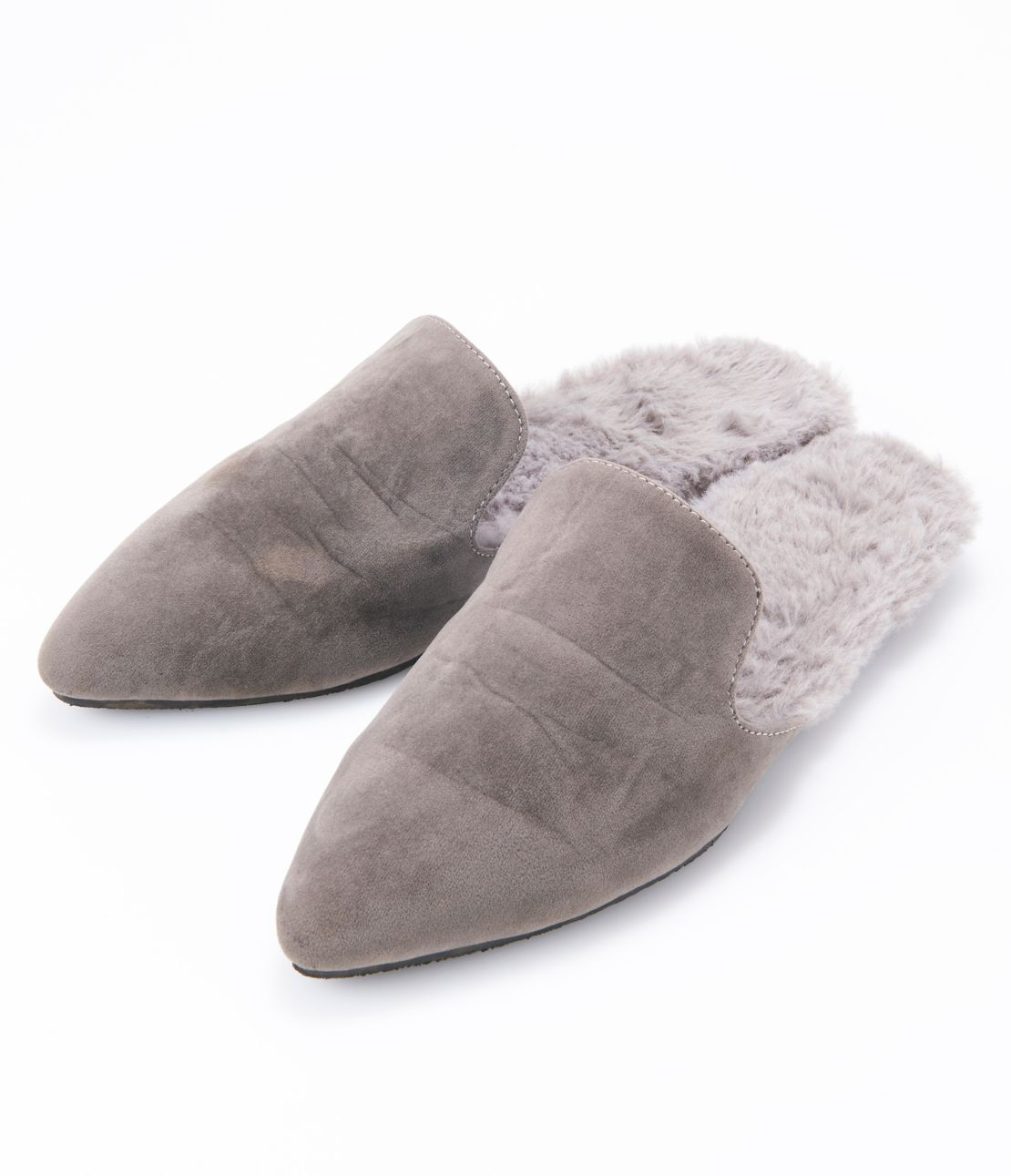 Eco-fur insole sandals