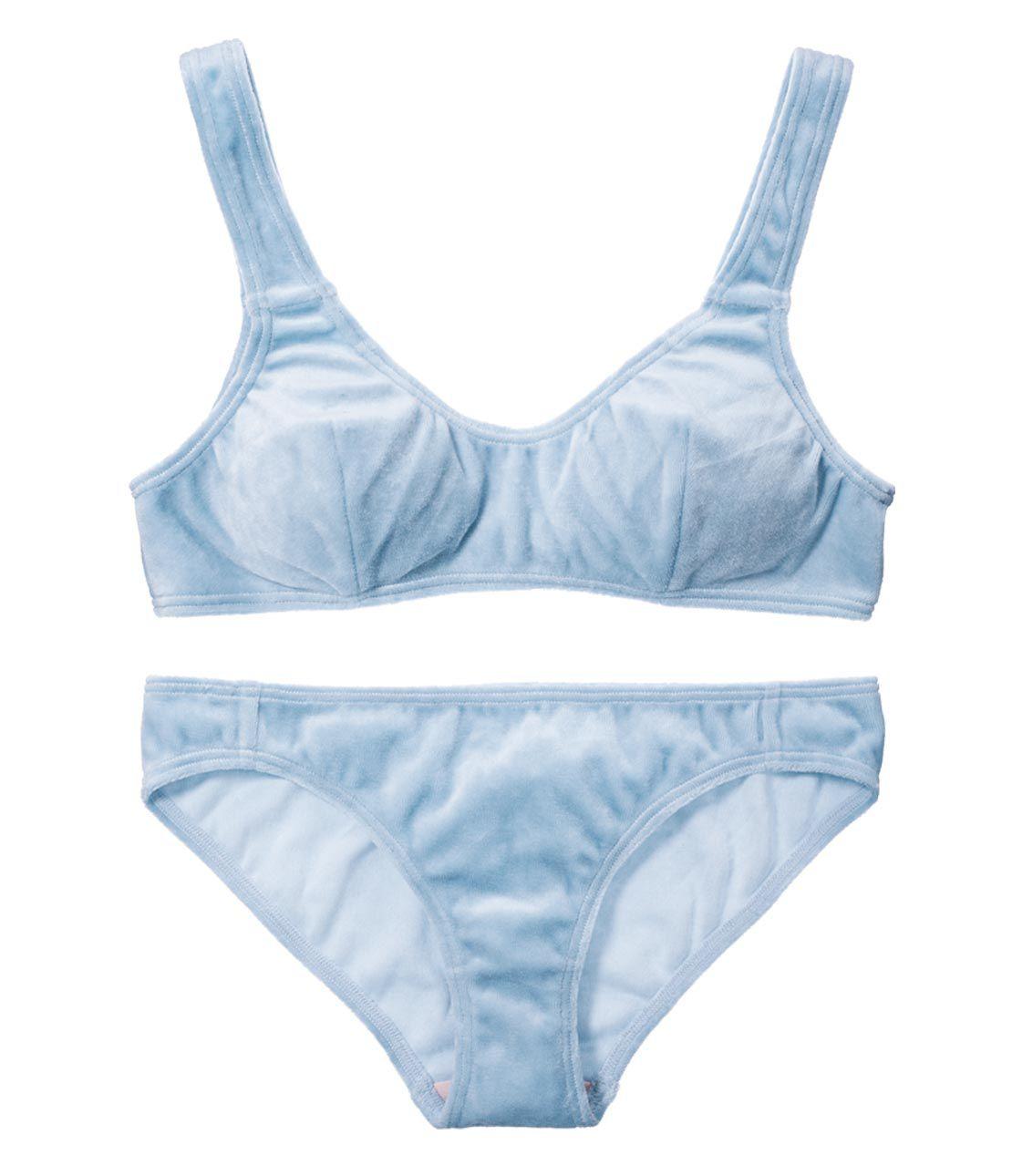 YM 2WAY简单丝绒胸罩马桶套