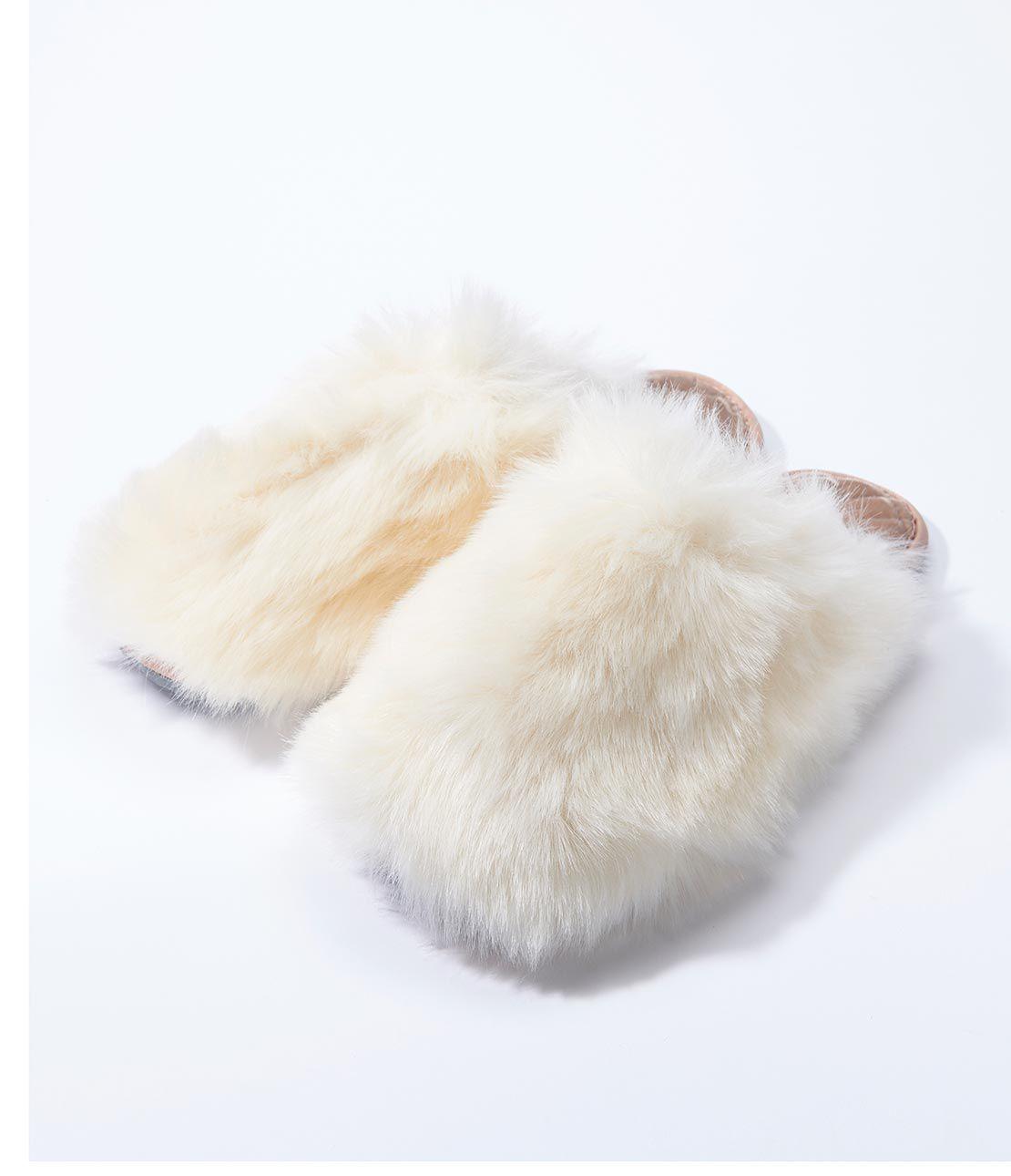 Eco fur Room Shoes