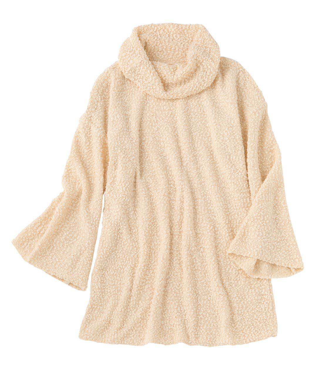NEP yarn knit mini dress