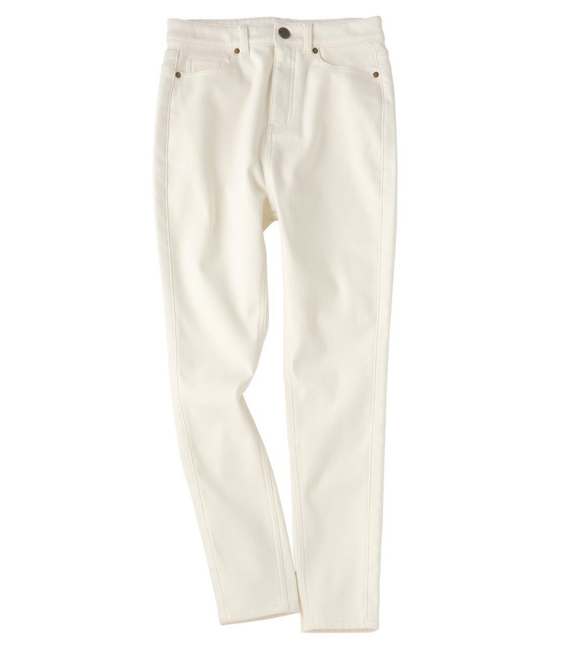 Back fleece legs high waist skinny pants