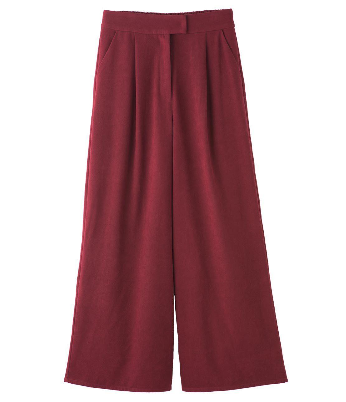 Tuck volume wide pants