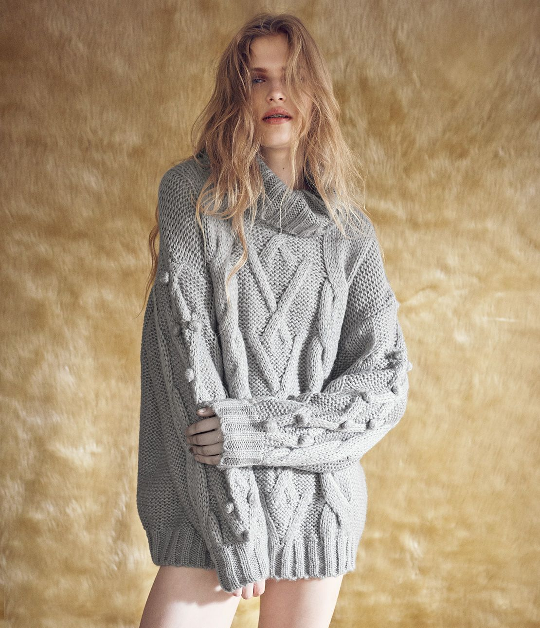 Cable knit Turtle tunic