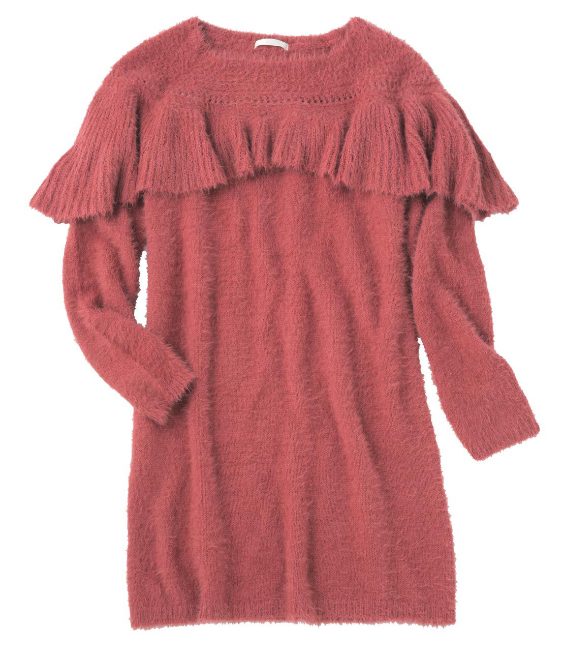Leh Consequences neck ruffle knit dress