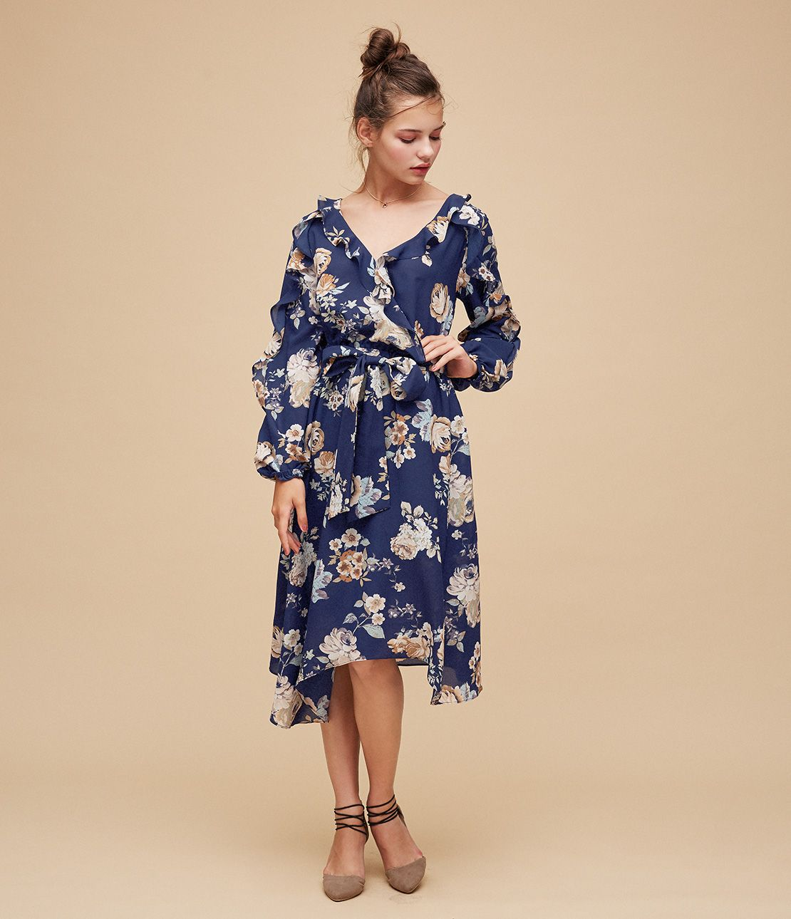 Ruffle Kashukuru Flower dress