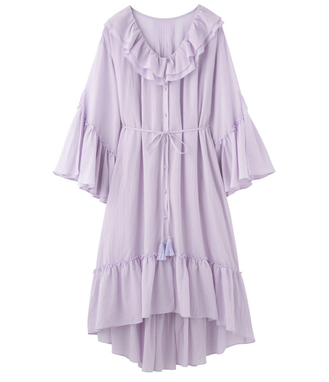 2WAY ruffle dress