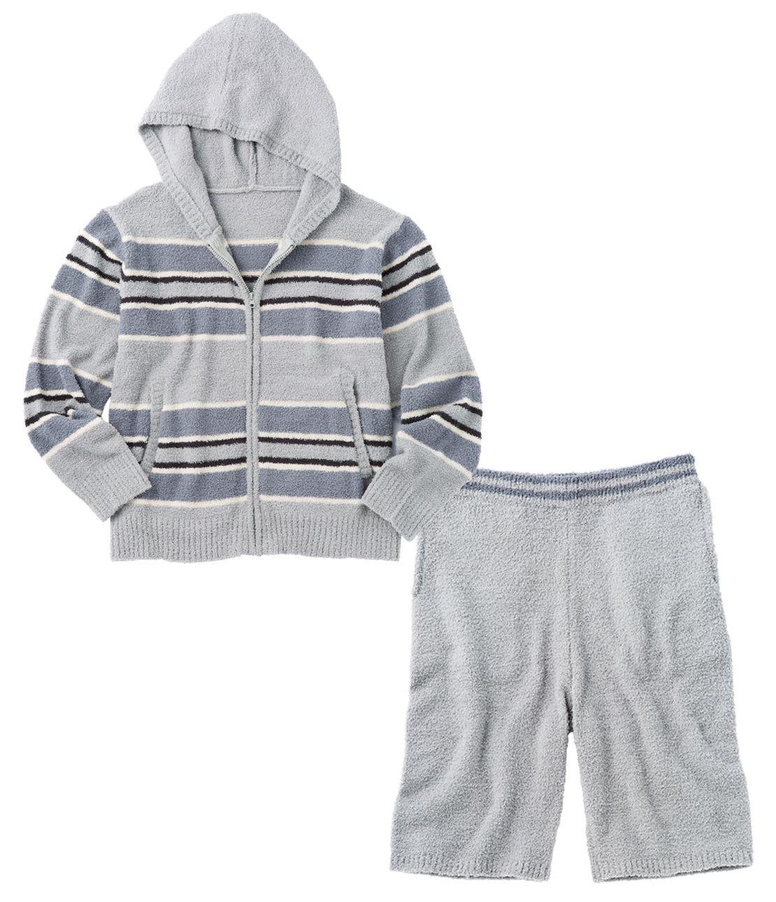 男子鞭葉在二睡衣