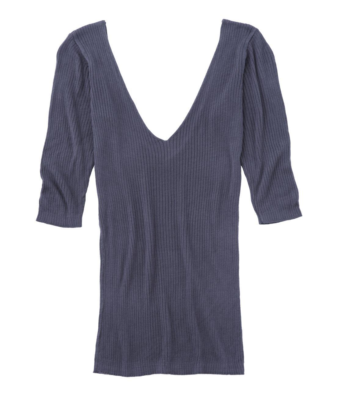 V-neck 5 minutes sleeve knit