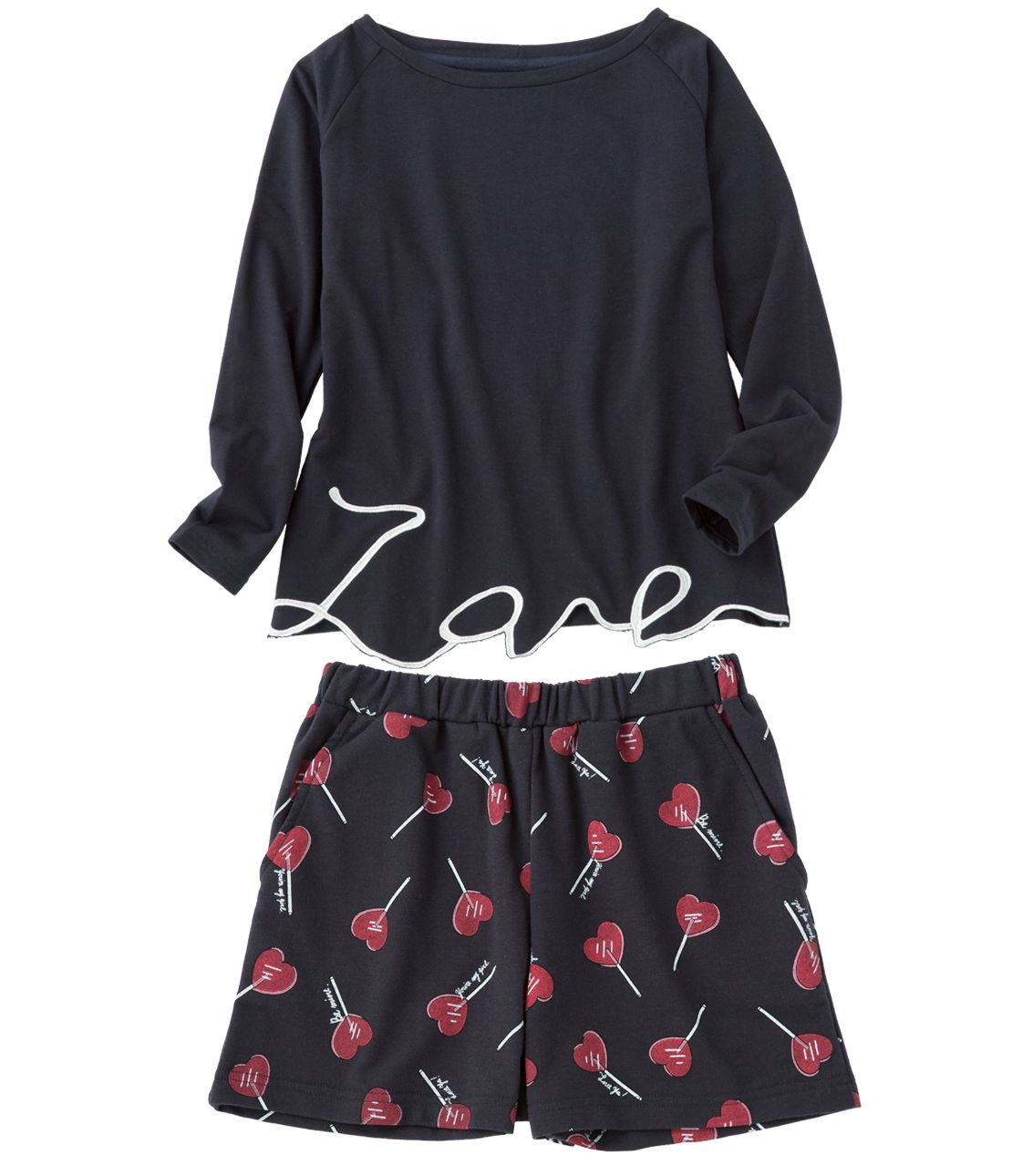 Happy Lovers love letter pajamas