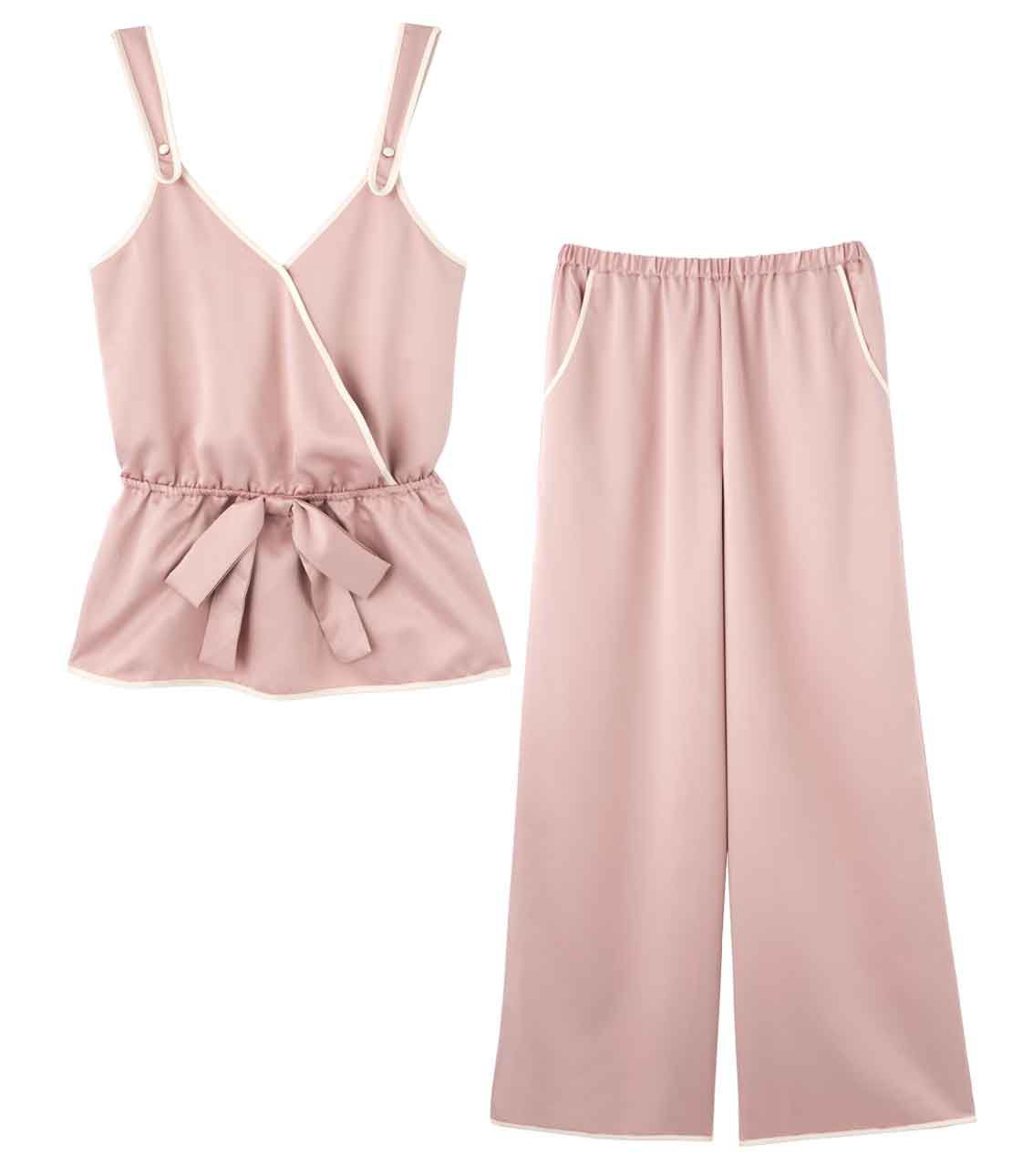 Satin trimming Cami pajamas