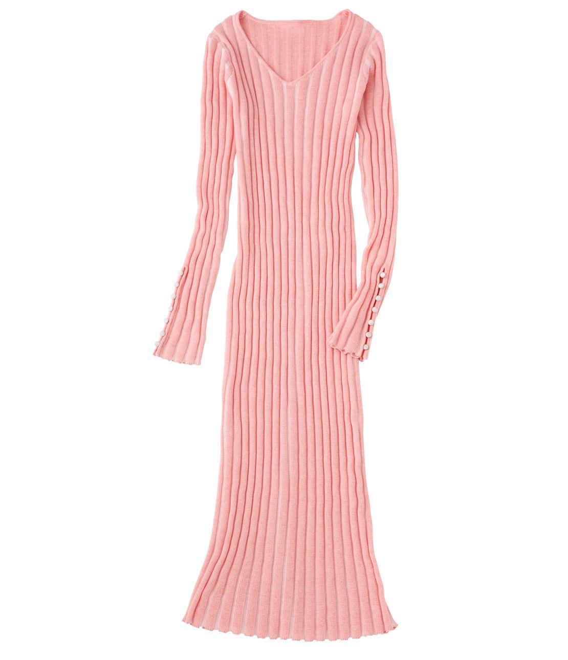 罗纹针织连衣裙迷笛