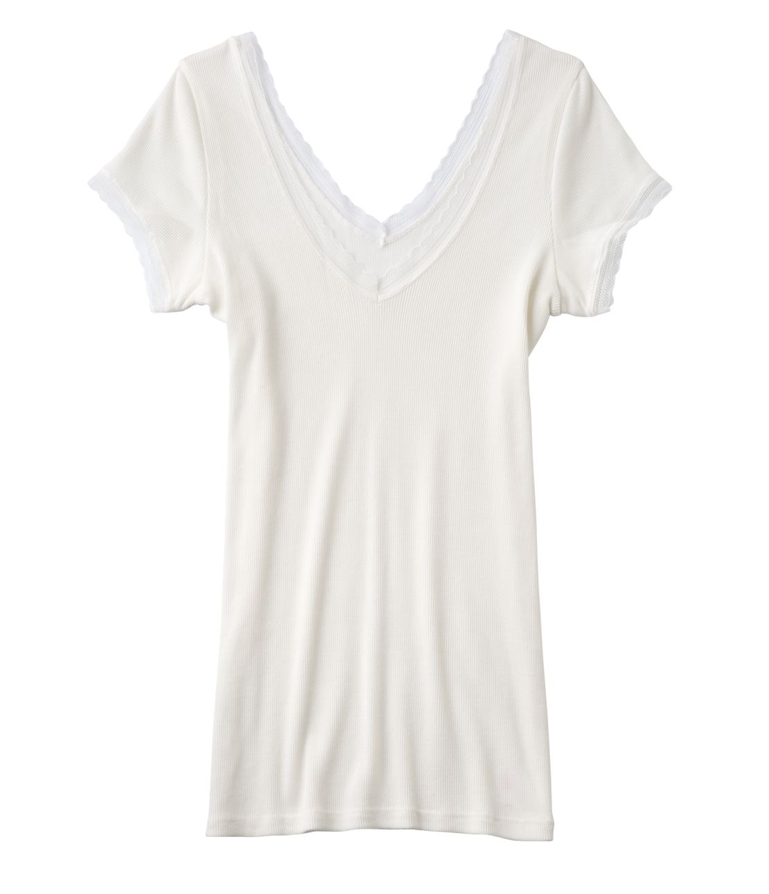 Cotton rib cap sleeve