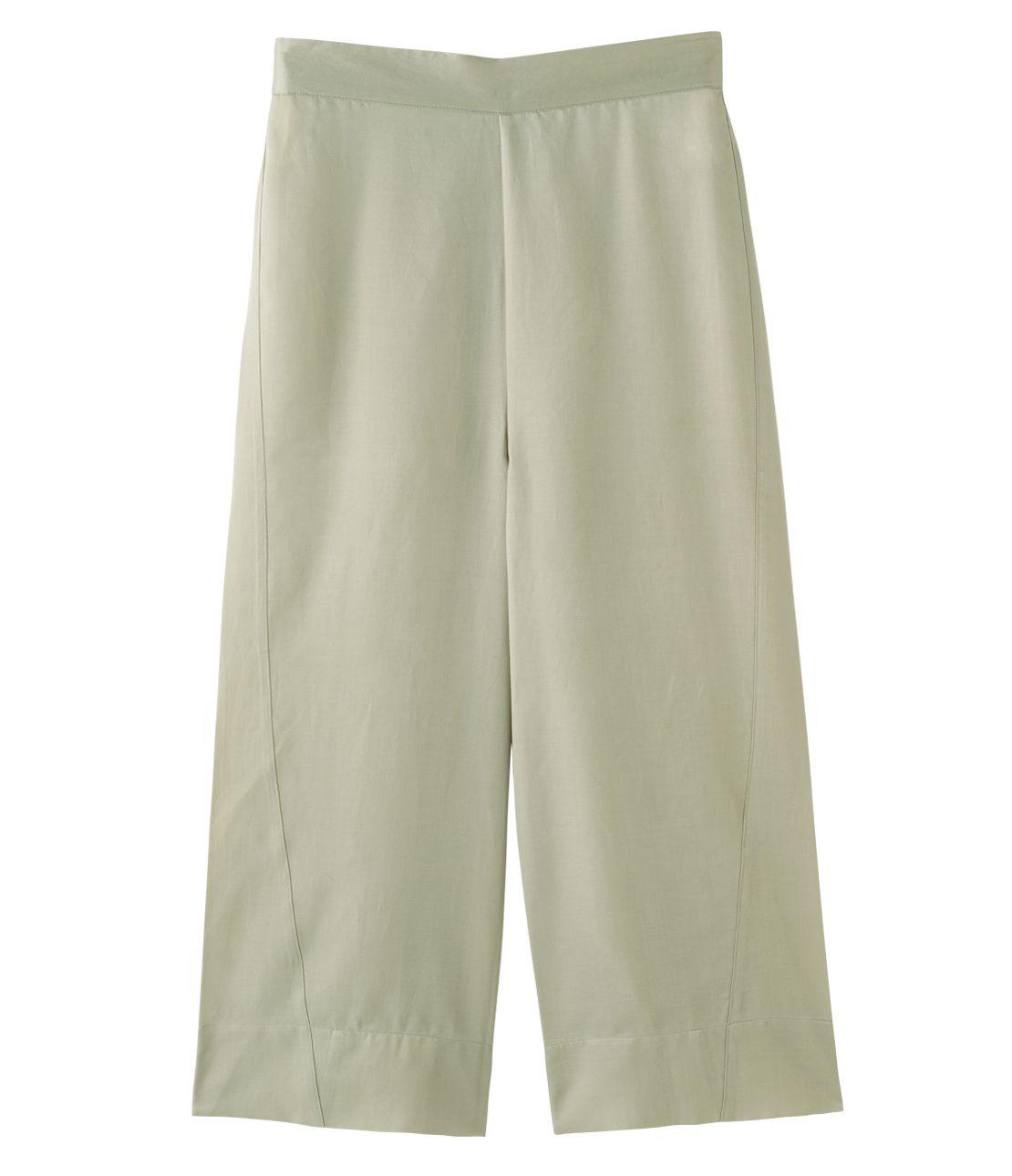 Cotton silk satin straight pants