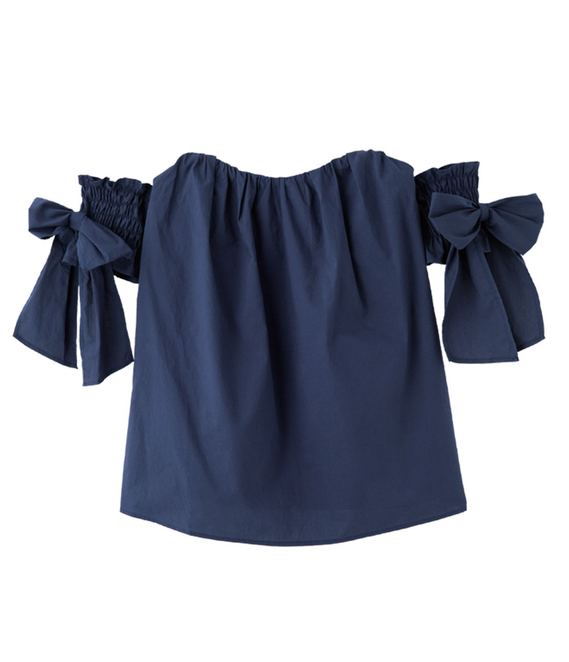 Off-the-shoulder ribbon top