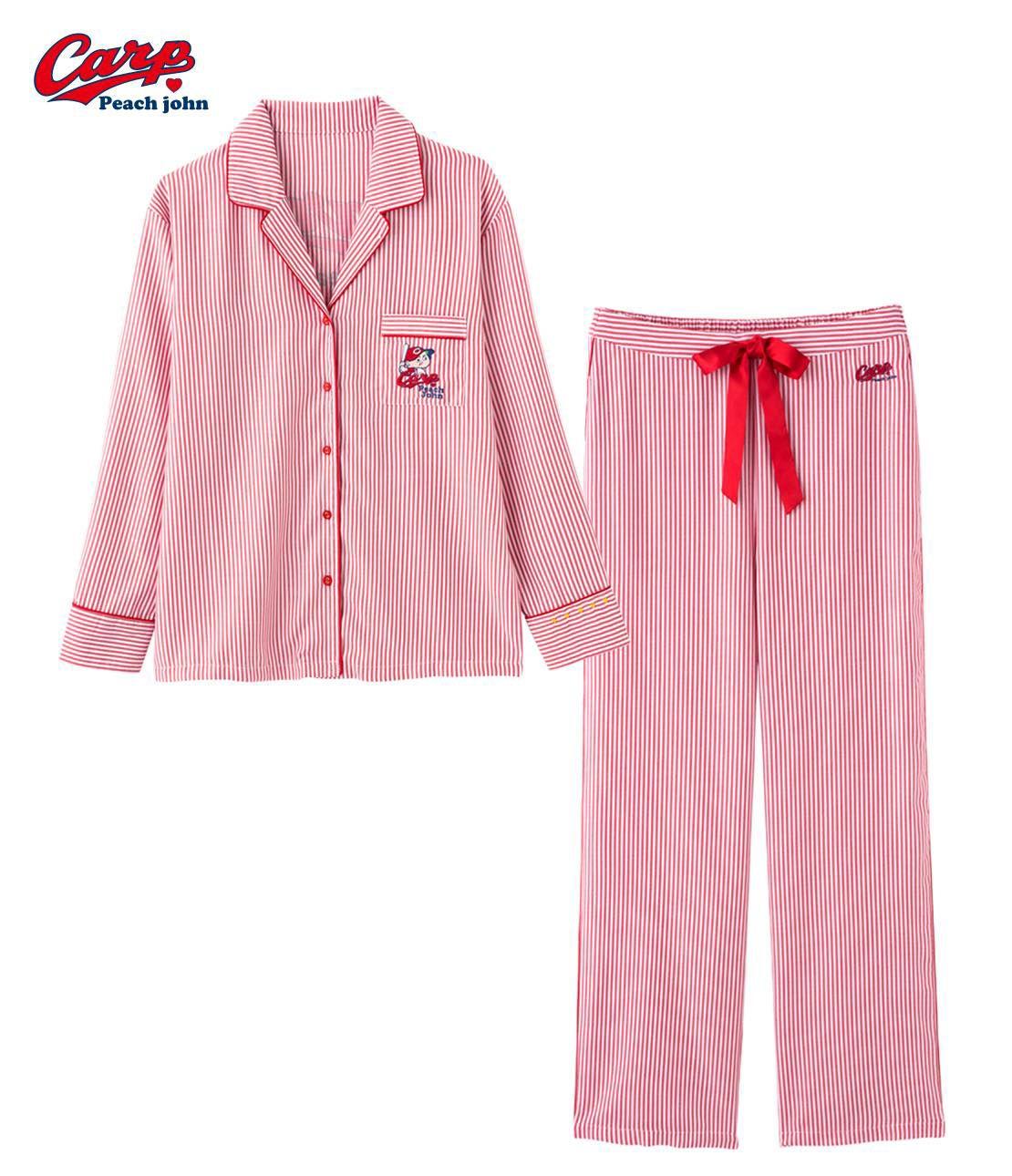 PJ×廣島東洋鯉魚襯衣睡衣