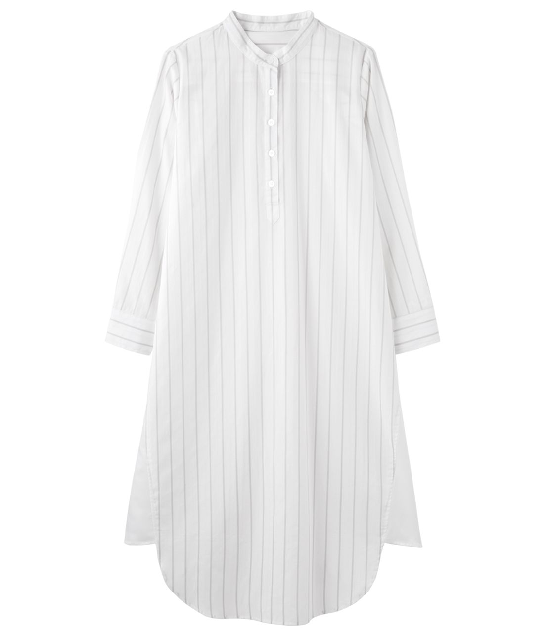 Stripe jacquard shirt dress