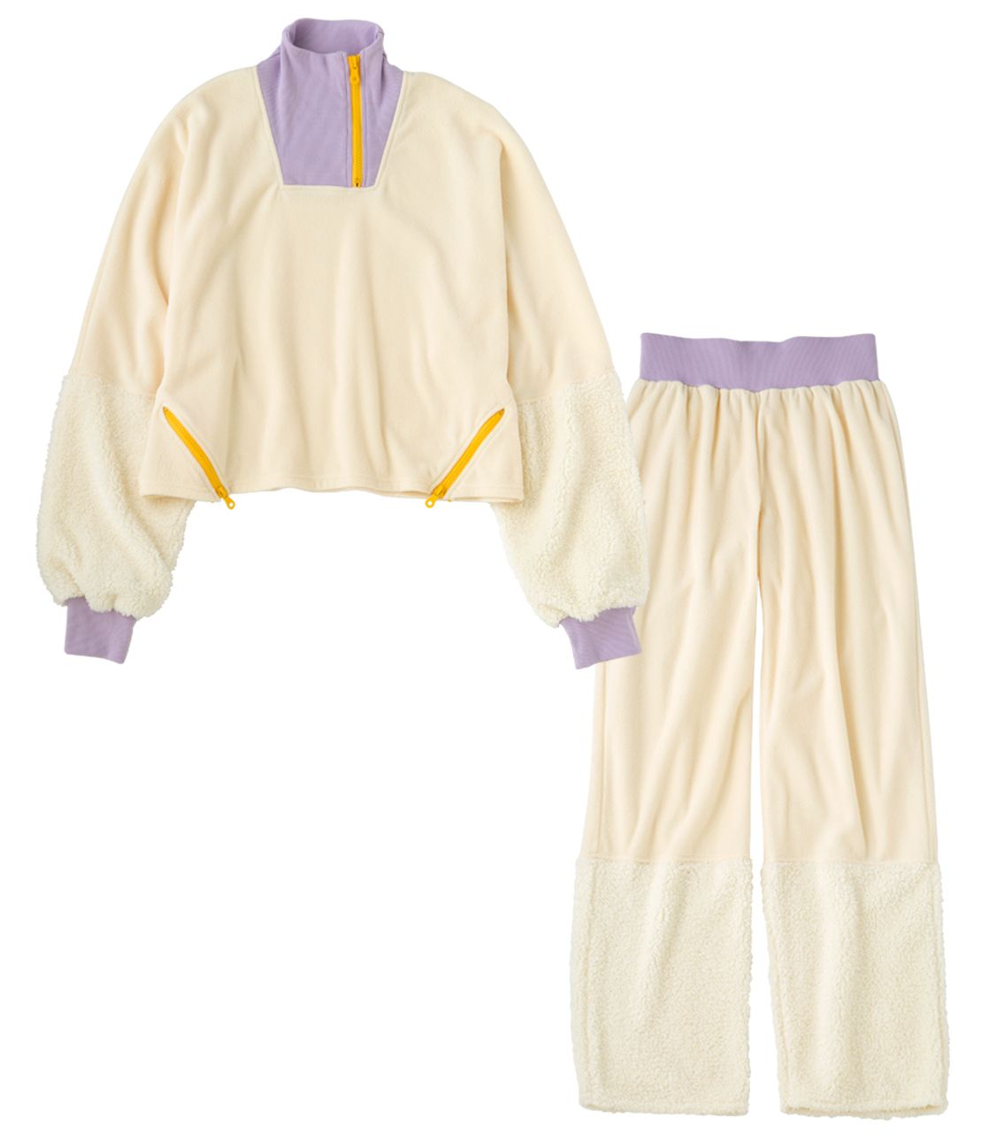 YM-by-color fleece pajamas