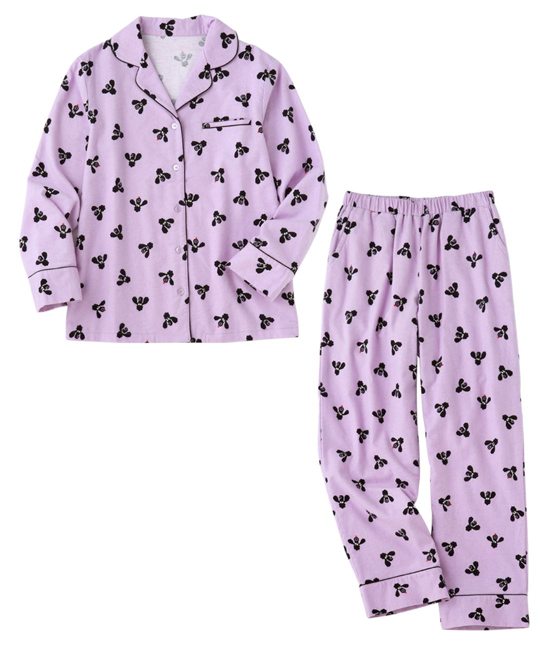 YM flannel print shirt pajamas