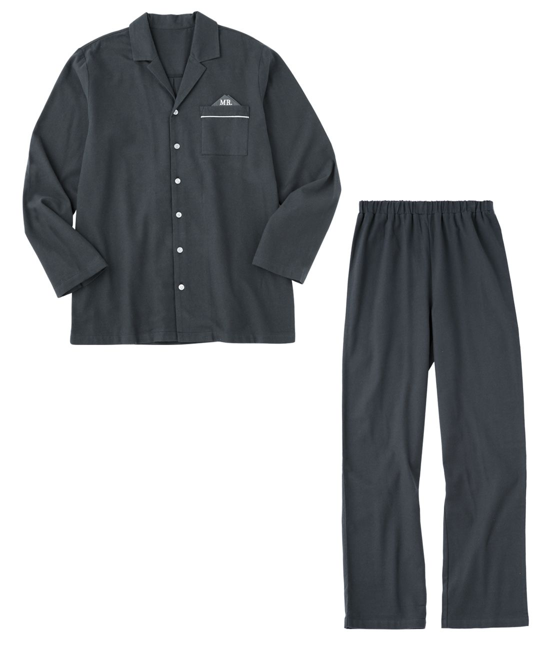 Men's double-sided brushed flannel shirt pajamas