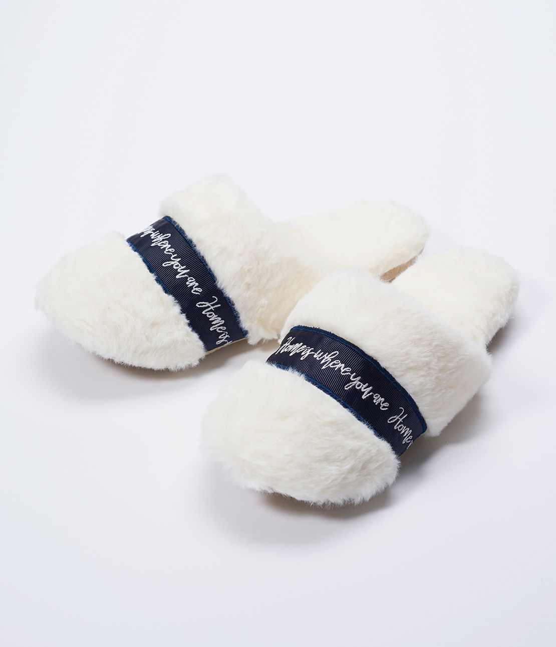 Logo tape eco fur Room Shoes