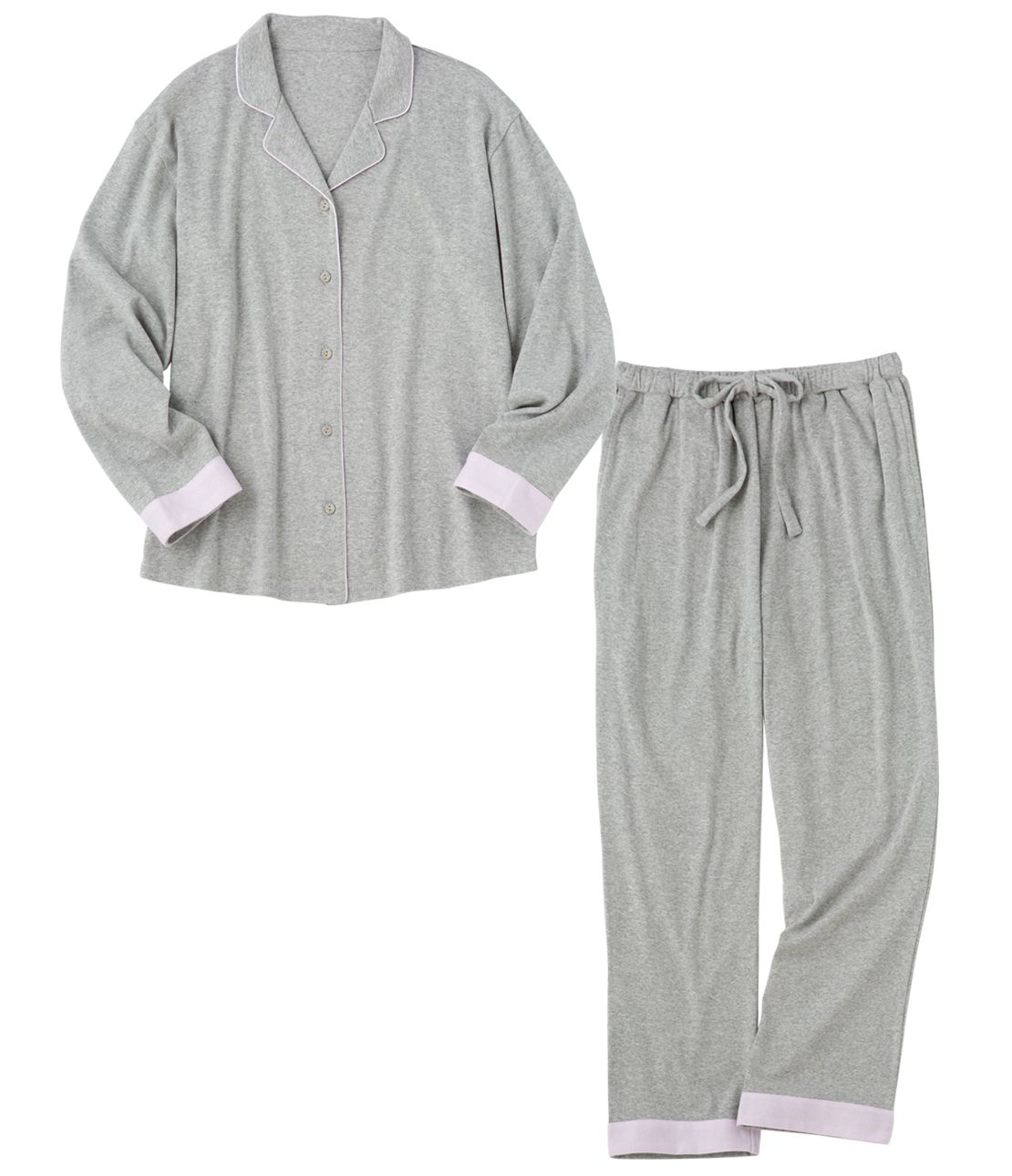 Soft cotton jersey shirt pajamas