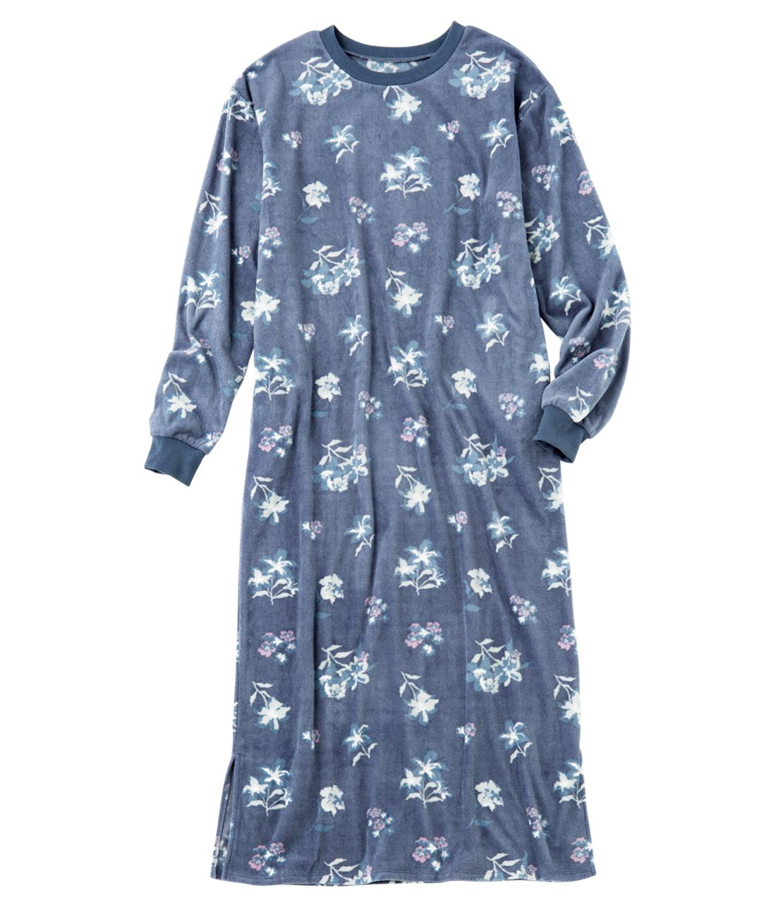 Good Three Pyi Flower fleece maxi dress