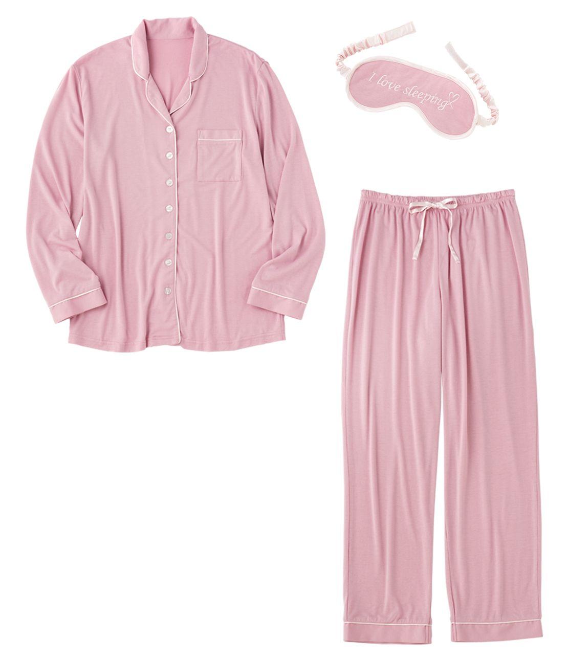 通过颜色的衬衫睡衣套装
