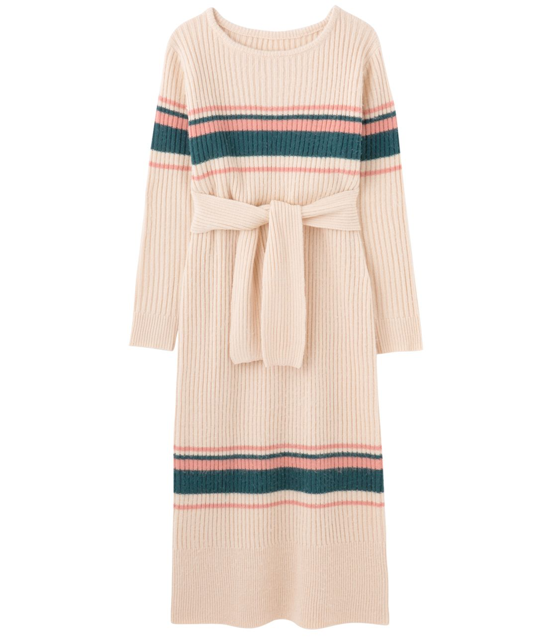 Comfortable all-day border knit dress