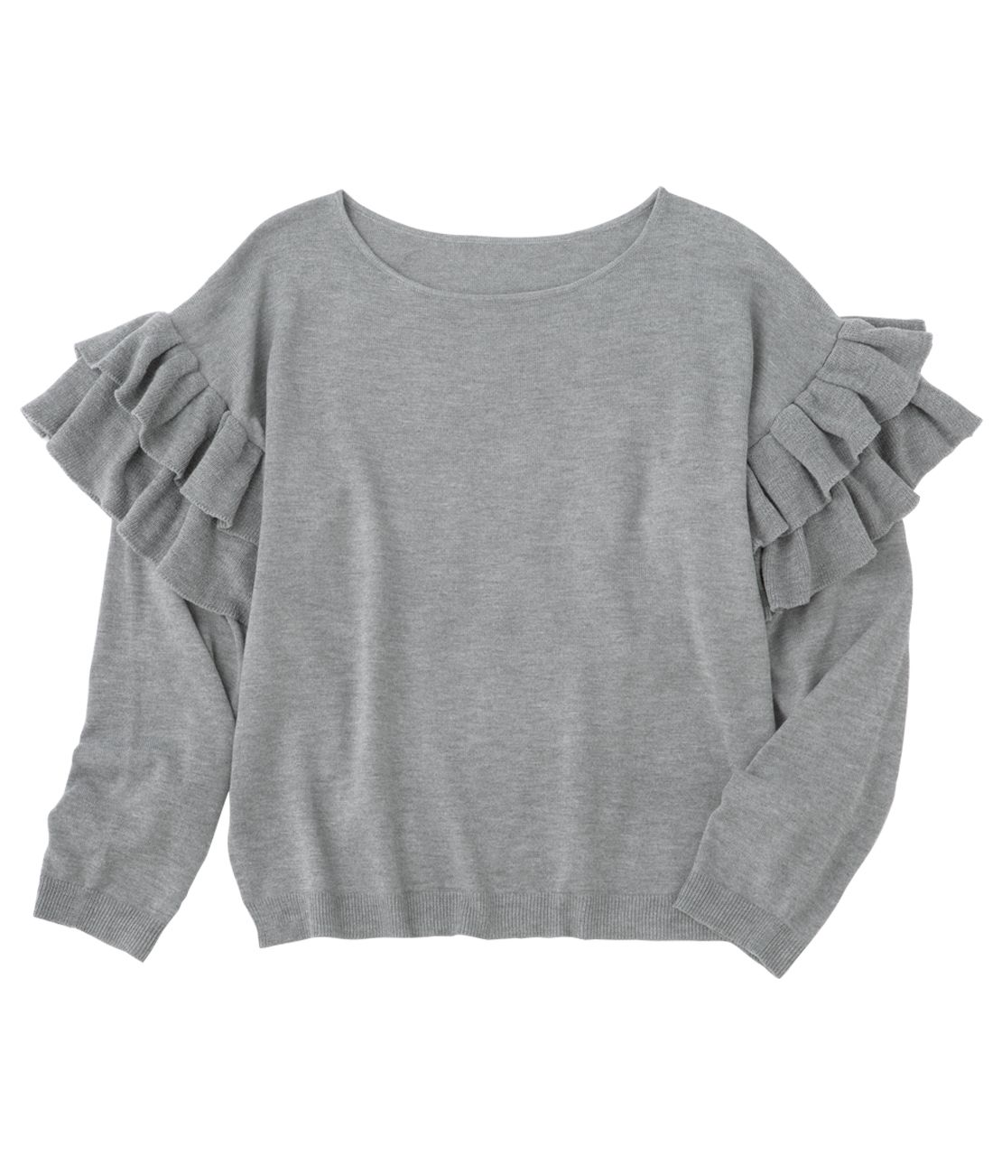 2WAY ruffle knit sleeves can be taken