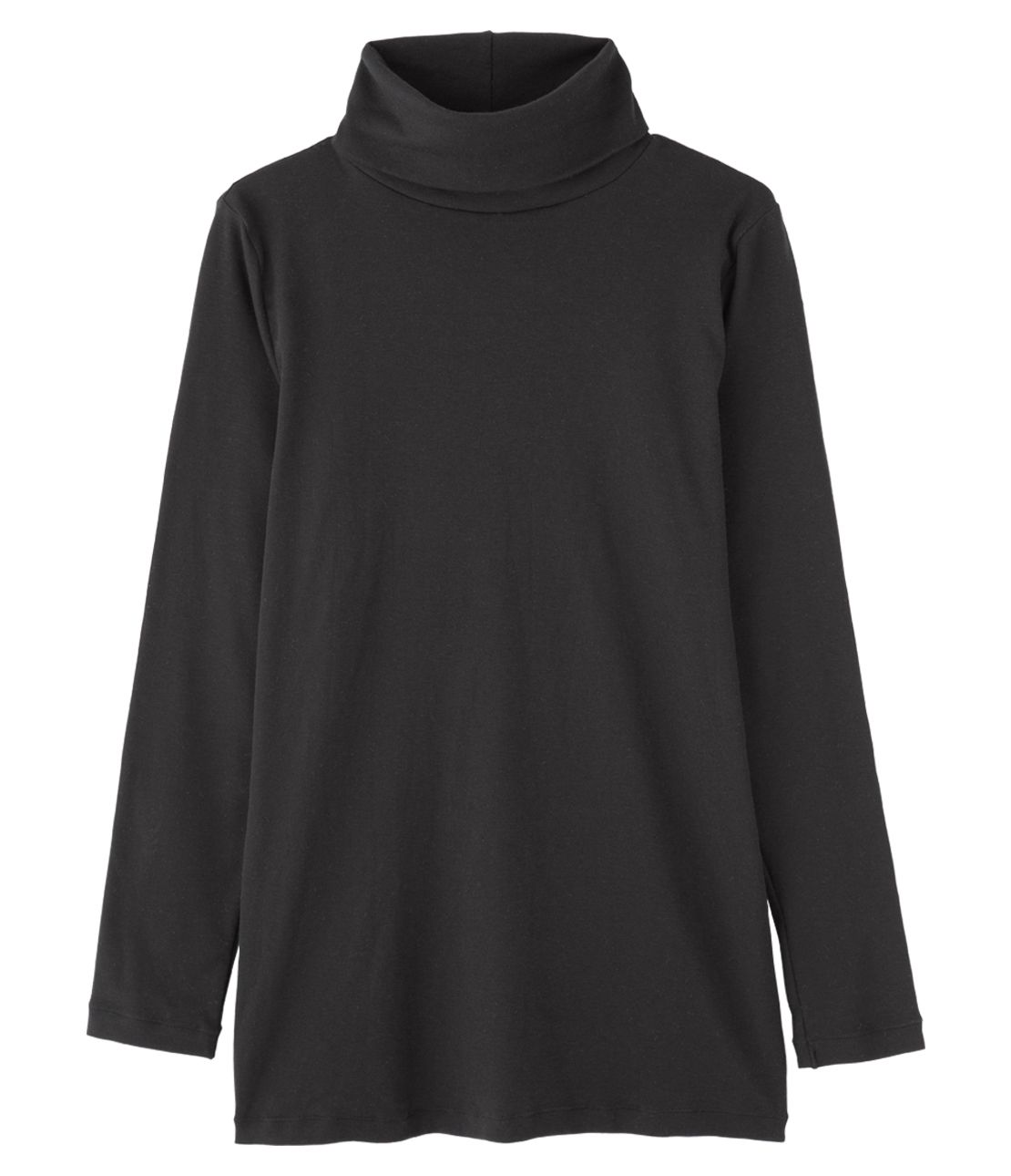 Cotton silk turtleneck long-sleeved