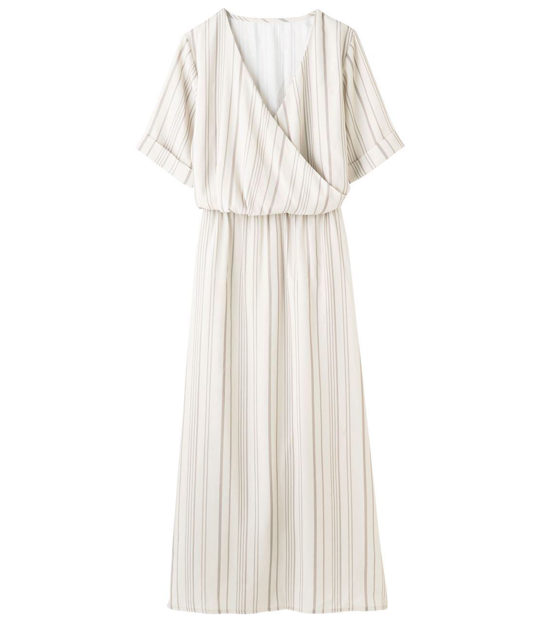 Stripe Kashukuru long dress