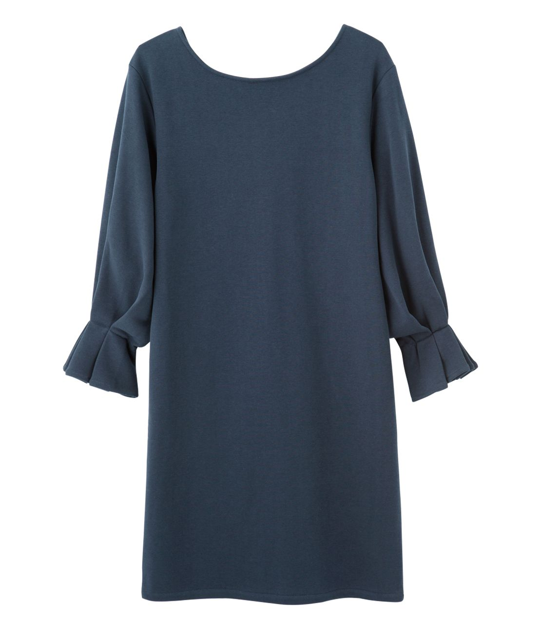 Tack sleeve sweatshirt dress