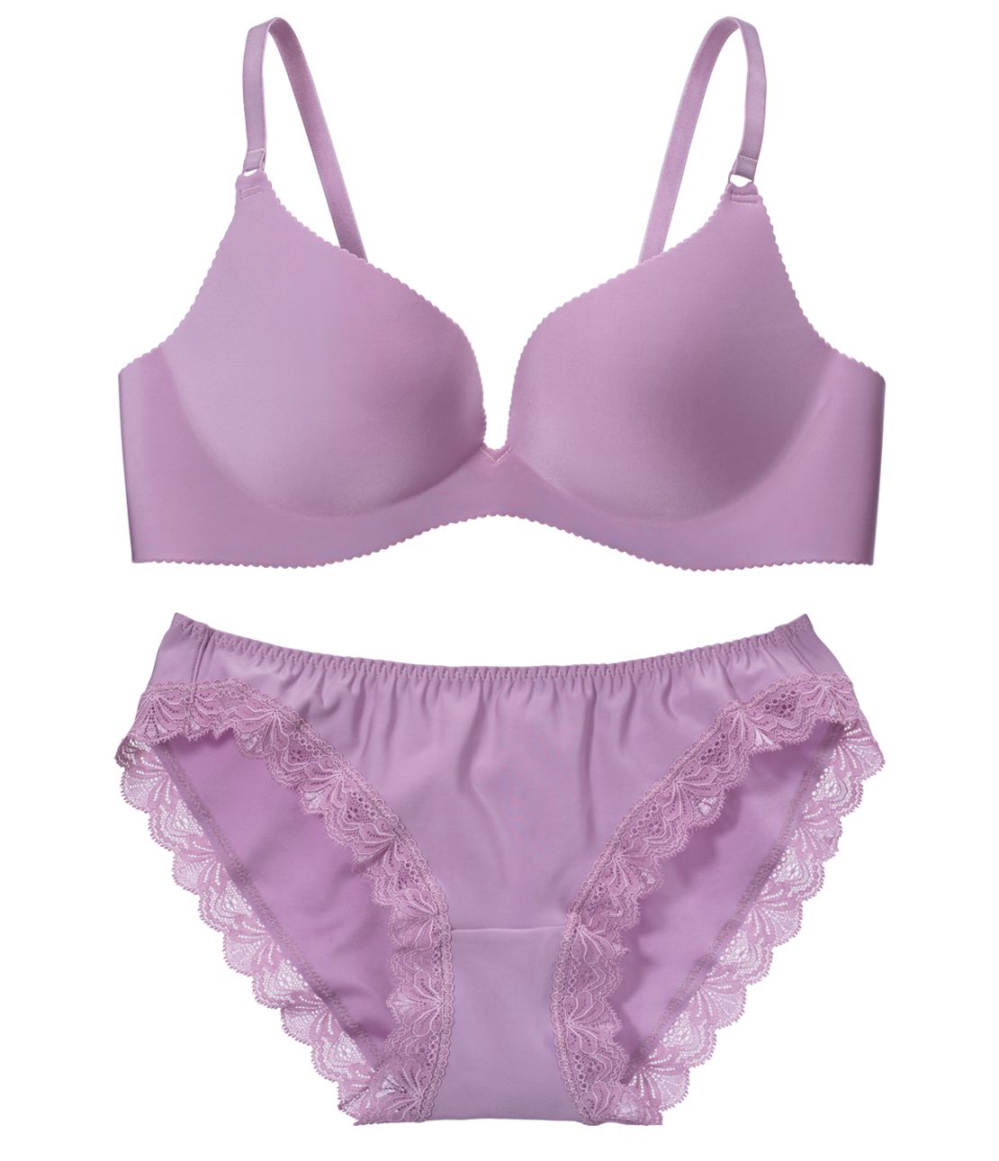 YM simple non-wire T-Shirt Bra Set