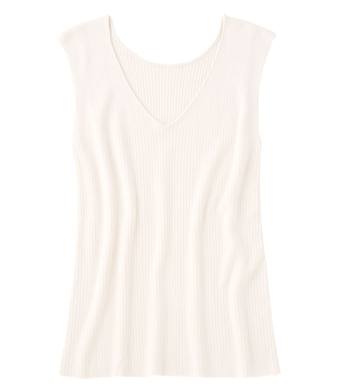Rib knit sleeveless