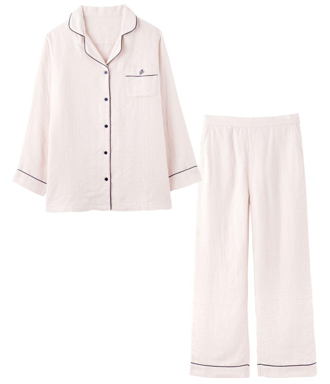 Marshmallow gauze (R) shirt pajamas