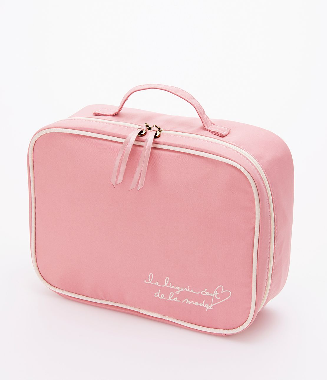 Satin lingerie pouch